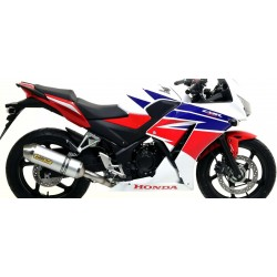 ARROW COMPLETE EXHAUST SYSTEM WITH RACE-TECH ALUMINUM TERMINAL STEEL BASE FOR HONDA CBR 300 R 2014/2019