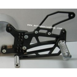 EINSTELLBARE HINTERE FUSSPEGEL MIT 4-RACING EWIGSTANGE FÜR YAMAHA R1 2004/2006 (Standard/Rückwärtsgetriebe)