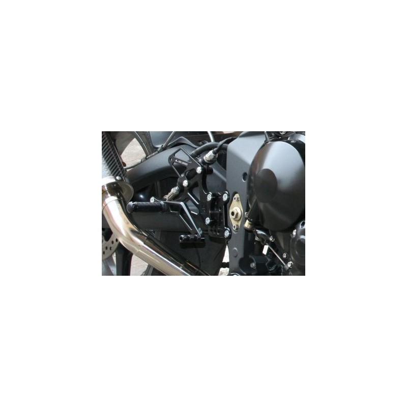 PEDANE ARRETRATE REGOLABILI 4 RACING PER TRIUMPH DAYTONA 675 2006/2010, STREET TRIPLE 675/R 2008/2010 (comando cambio ROVESCIATO