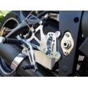 ADJUSTABLE REAR SETS 4-RACING FOR TRIUMPH DAYTONA 675 2006/2010 (reverse shifting)
