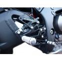PEDANE ARRETRATE REGOLABILI 4 RACING PER KAWASAKI ZX-10R 2011/2015 CON ABS (cambio standard e rovesciato)