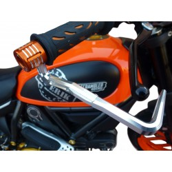 ALUMINUM 4-RACING BRAKE LEVER PROTECTION WITH HANDLEBAR ATTACHMENT DIAM. INTERNAL 17 mm