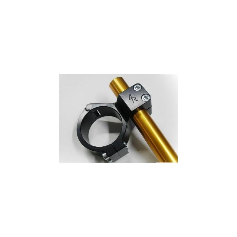 SEMIMANUBRI 4-RACING RIALZATI (+ 15 mm) A BRACCIALE DIAM. 52 mm IN LEGA D'ALLUMINIO