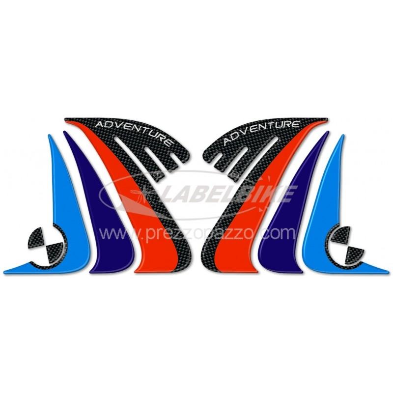 ADESIVI 3D PROTEZIONI LATERALI SERBATOIO BMW R 1200 GS ADVENTURE 2014/2018
