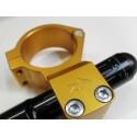 SEMIMANUBRI 4-RACING A BRACCIALE DIAM. 55 mm RIALZATI (+ 15 mm) CON TUBO ECCENTRICO IN LEGA D'ALLUMINIO (Escursione +/- 10 mm)