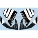 ADESIVI 3D PROTEZIONI LATERALI SERBATOIO PER HONDA CROSSTOURER 1200 2012/2018