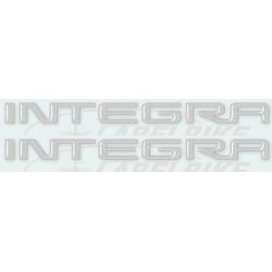 COPPIA ADESIVI SCRITTA INTEGRA COLORE GRIGIO CM 17,9 X 1,4 2pz.