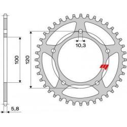 ALUMINIUM REAR SPROCKET FOR 520 CHAIN FOR APRILIA RSV 1000