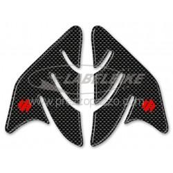 ADESIVI 3D PROTEZIONI LATERALI SERBATOIO MOTO SUZUKI GSX R CARBON