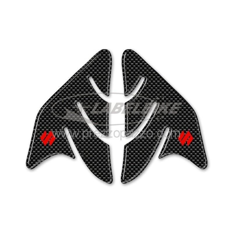 ADESIVI 3D PROTEZIONI LATERALI SERBATOIO PER SUZUKI GSX-R CARBON