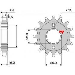 525 ORIGINAL CHAIN STEEL PIN FOR DUCATI HYPERMOTARD 821 2013/2015, HYPERSTRADA 821 2013/2015