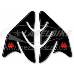 3D STICKERS TANK SIDE PROTECTIONS FOR SUZUKI GSX-R BLACK