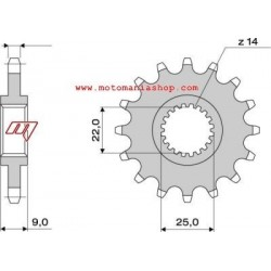 STEEL PIN FOR ORIGINAL CHAIN 525 FOR BENELLI