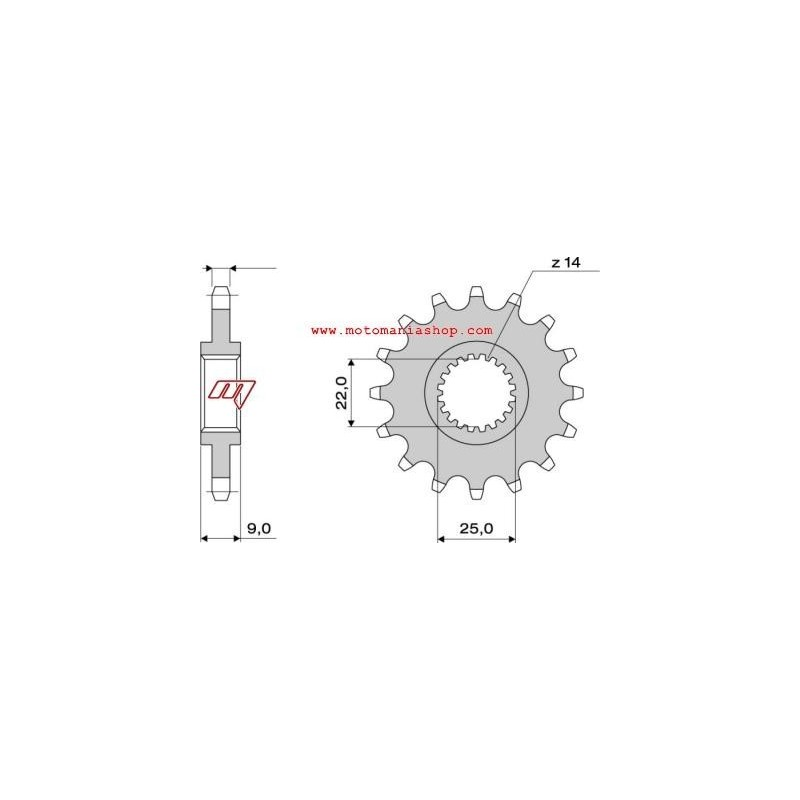 STEEL FRONT SPROCKET FOR ORIGINAL CHAIN 525 FOR BENELLI
