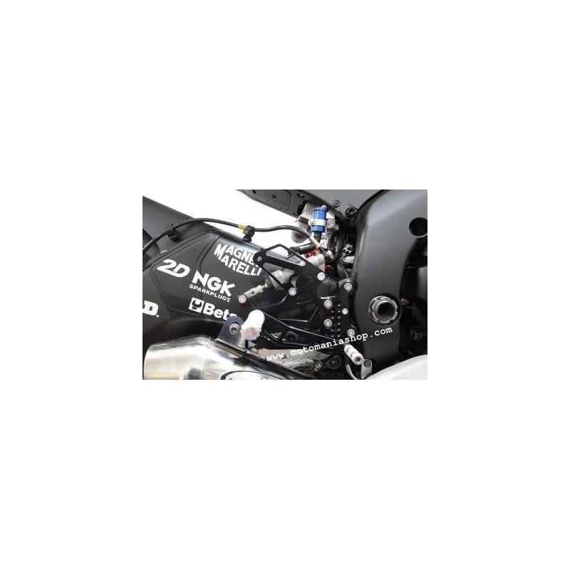 PEDANE ARRETRATE REGOLABILI 4 RACING PER YAMAHA R6 2006/2016 (comando cambio standard)