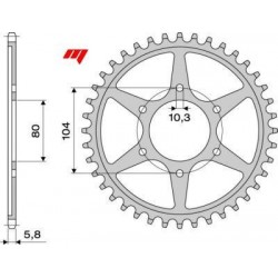 ALUMINIUM REAR SPROCKET FOR 520 CHAIN FOR KAWASAKI ER-6N/F 2006/2016, Z 750/R 2004/2012, VERSYS 650 2007/2020