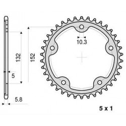 ALUMINIUM REAR SPROCKET FOR 520 CHAIN FOR MV AGUSTA F4 1000 S/R/RR 2010/2013