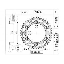 STEEL REAR SPROCKET FOR ORIGINAL CHAIN 520 FOR YAMAHA MT-03 2006/2013, XT 660 Z TENERE 2008/2016