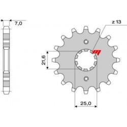 STEEL FRONT SPROCKET FOR ORIGINAL CHAIN 525 FOR CAGIVA RAPTOR 650 2000/2007