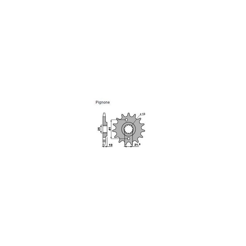 PIGNONE IN ACCIAIO PER CATENA 520 PER YAMAHA MT-03 2006/2013, XT 660 Z TENERE 2008/2016