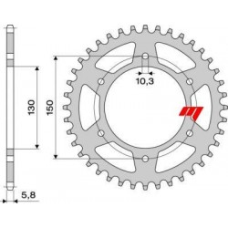 ALUMINIUM REAR SPROCKET FOR 520 CHAIN FOR YAMAHA FZ8 / FAZER 8 2010/2015