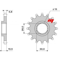 STEEL FRONT SPROCKET FOR CHAIN 520 FOR YAMAHA FZ8/FAZER 8 2010/2015
