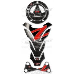 3D STICKERS PROTECTION TANK, CAP, HANDLEBAR RISER FOR KAWASAKI Z 750 2007/2012
