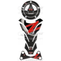 ADESIVI 3D PROTEZIONI SERBATOIO, TAPPO, RISER MANUBRIO MOTO KAWASAKI Z 1000 2007/2011