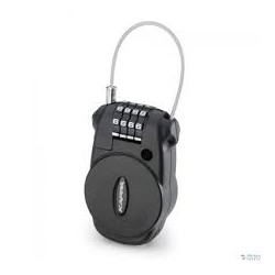 GIVI PADLOCK WITH COMBINATION RETRACTABLE STEEL CABLE