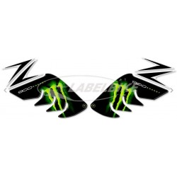 3D STICKERS TANK SIDE PROTECTIONS FOR KAWASAKI Z 900