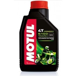 LUBRICANT OIL MOTUL 5100 15W50 FOR 4-STROKE ENGINES