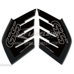ADESIVI 3D PROTEZIONI LATERALI SERBATOIO PER BMW R 1200 GS ADVENTURE 2006/2013 CARBON