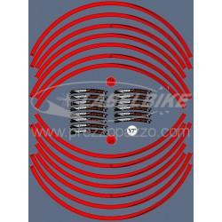 "KIT ADHESIVE EDGES FOR WHEEL CIRCLES FOR APRILIA RSV THUNDER 17"" RED"