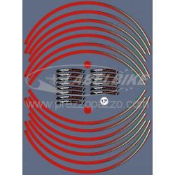"""KIT STICKER EDGES FOR WHEEL RIMS FOR APRILIA RSV TUONO 17""""RED ITALY FLAG"""