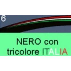 """BORDO ADESIVO PER CERCHI RUOTA PER APRILIA RSV TUONO 17"""" NERO BANDIERA ITALIA"""