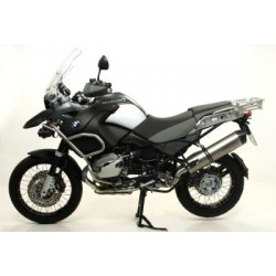 COMPLETE EXHAUST SYSTEM ARROW MAXI RACE-TECH TERMINAL IN ALUMINUM CARBON BACK FOR BMW R 1200 GS ADVENTURE 2010/2013