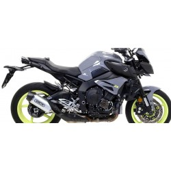 ARROW INDY RACE EXHAUST TERMINAL IN DARK ALUMINUM CARBON BASE FOR YAMAHA MT-10 2016/2019, APPROVED