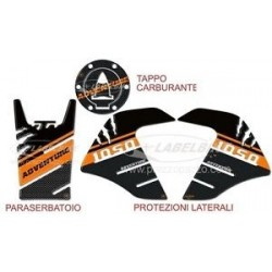 3D STICKERS KIT SIDE PROTECTION, TANK, CAP FOR KTM ADVENTURE 1050
