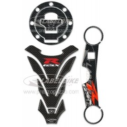 3D STICKER TANK PROTECTION, CAP, STEERING PLATE FOR SUZUKI GSX-R 750/1000 2000/2002
