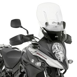 SLIDING WINDSHIELD GIVI FOR SUZUKI V-STROM 650 2017/2020, TRANSPARENT