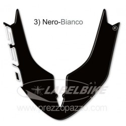 3D STICKER FRONT FENDER PROTECTION FOR YAMAHA T-MAX 530 2015/2016 BLACK WHITE