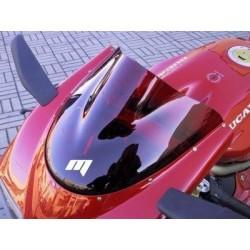 PLEXIGLASS DOUBLE BUBBLE FABBRI PER APRILIA RSV 1000 R/FACTORY 2004/2009, BLU, ROSSO