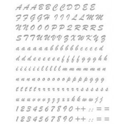 LETTER KIT STICKERS AND PREFUSTELLATED NUMBERS H 15 MM SILVER
