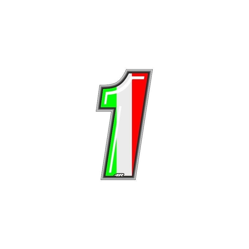 ADESIVO RACING ITA NUMERO 1 ALTEZZA 10 CM