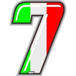 ADESIVO RACING ITA NUMERO 7 ALTEZZA 10 CM