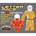 STICKER ECOPELLE LETTER X WHITE BLACK BORDER HEIGHT 45 MM