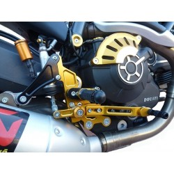 ADJUSTABLE REAR SETS 4-RACING RACE MODEL FOR DUCATI SCRAMBLER STREET CLASSIC 800 2017/2018 (standard shifting)