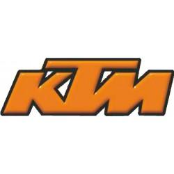 ADESIVO 3D LOGO KTM ARANCIO BORDO NERO mm 90 X 30