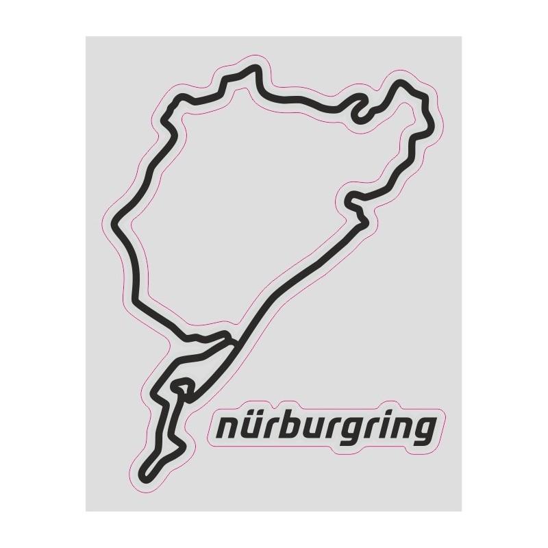 ADESIVO TRACCIATO CIRCUITO NURBURGRING CM 12 X 10