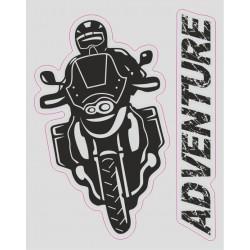 ADESIVO LOGO MOTO ADVENTURE CM 12 X 10